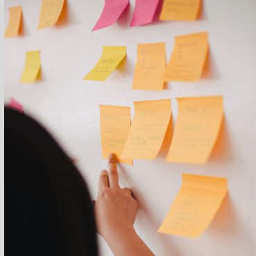 Post-it on the wall